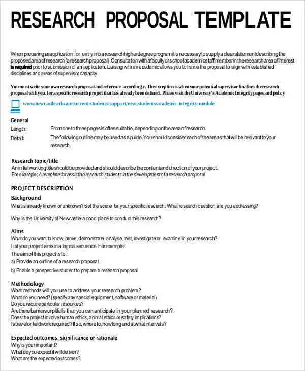 Academic Proposal Templates - 7+ Free Word, PDF Format Download