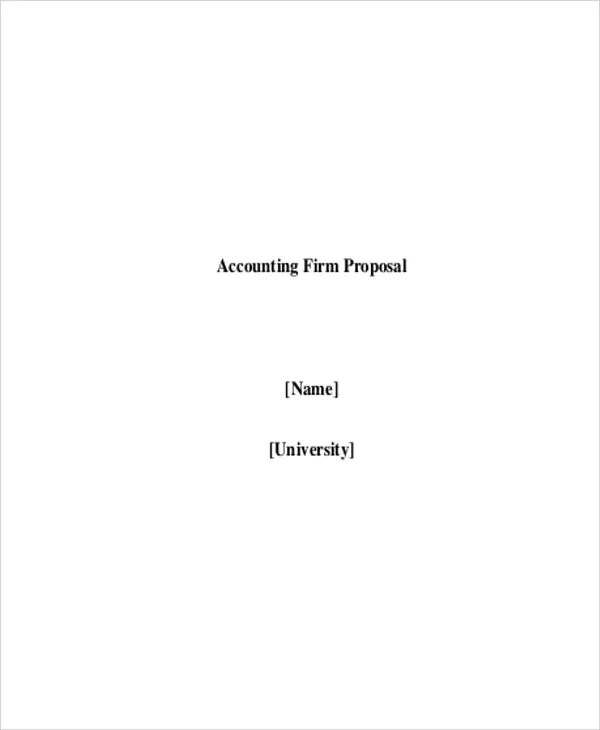 Accounting Proposal Templates - 9 Free Word, PDF Format Download