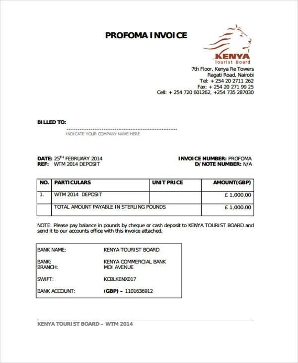 10+ Deposit Invoice Templates - Sample, Example Free  Premium