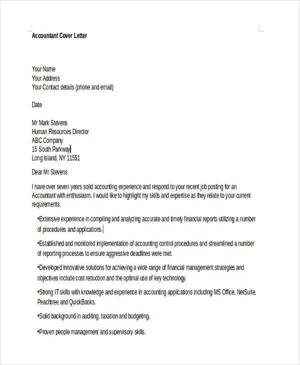 10+ Job Cover Letters - Free Sample, Example Format Download Free