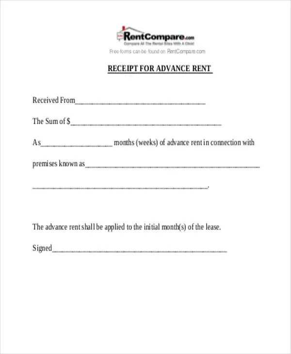 20+ Receipt Formats Free \ Premium Templates - house rent receipt format