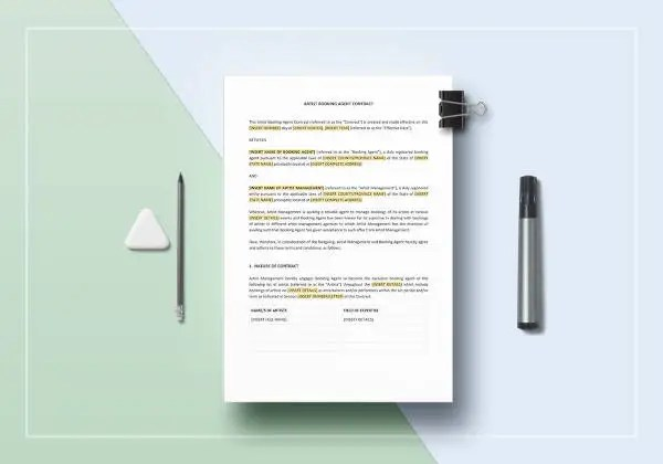 Agent Contract Template - 10+ Free Word, PDF Format Download Free