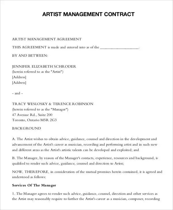 I Want A Recording Contract Best Resumes Curiculum Vitae And - sample artist contract template