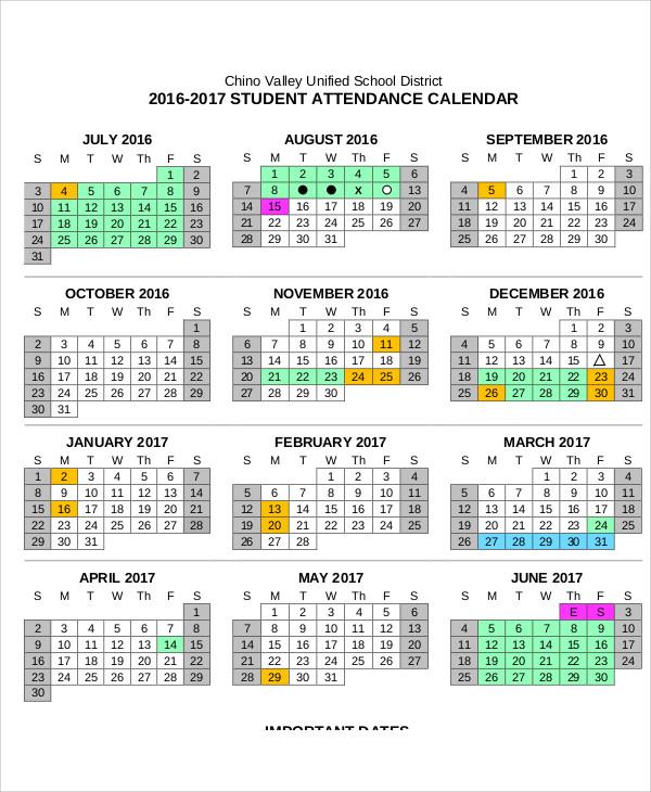 Attendance Calendar Templates attendance calendar template great - attendance calendar template