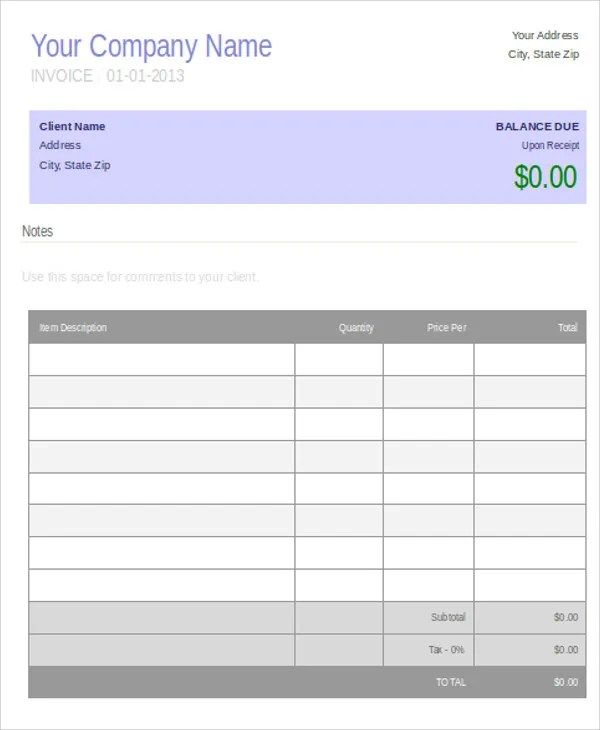 9 Job Invoice Templates - Free Sample, Example Format Download