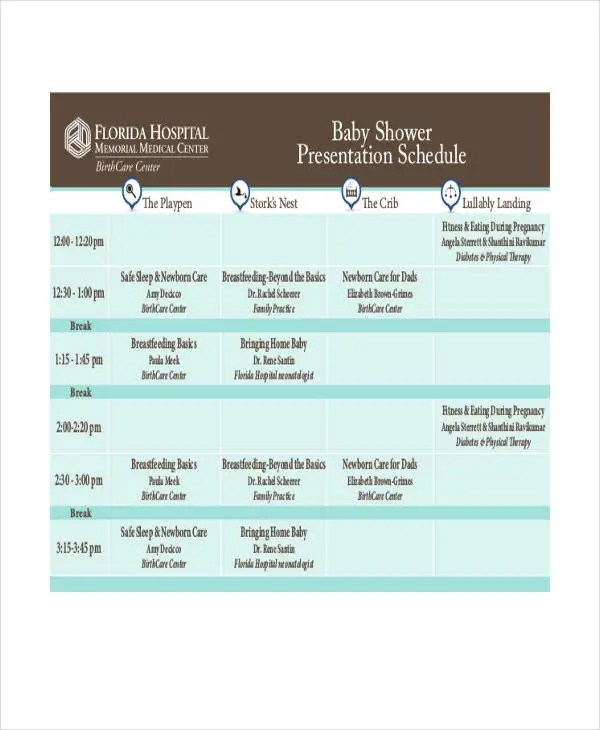 schedule for baby shower - Apmayssconstruction