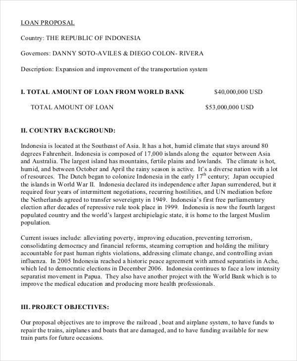 loan proposal - Goalgoodwinmetals - bank loan proposal sample