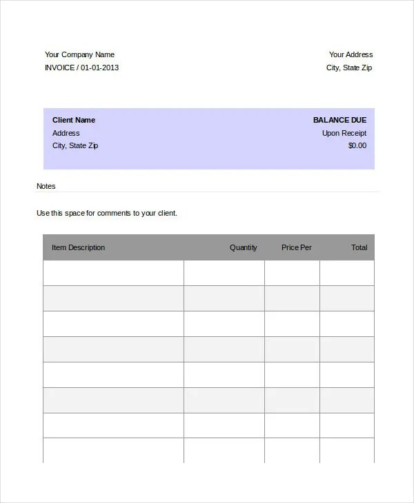 12+ DJ Invoice Templates - Free Word, PDF Format Download Free