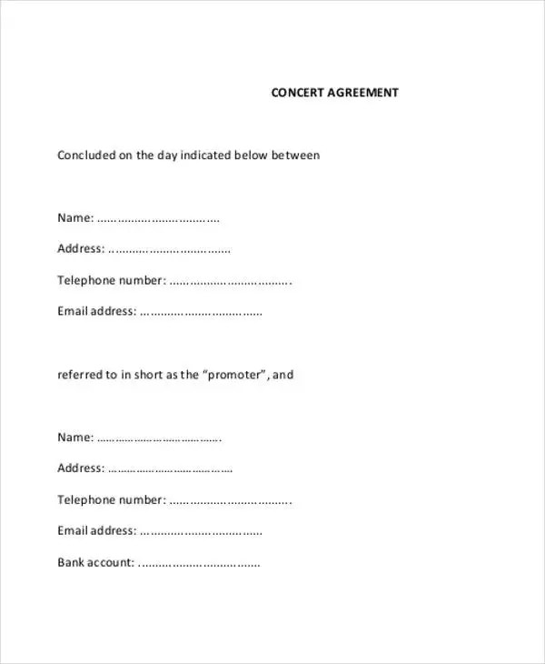 8+ Music Contract Templates - Free Samples, Examples Format Download