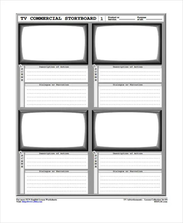 Amazing Tvc Storyboard Template Illustration Resume Templates