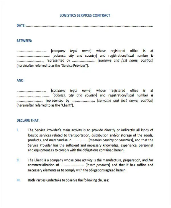 11+ Service Contract Templates - Free Sample, Example Format