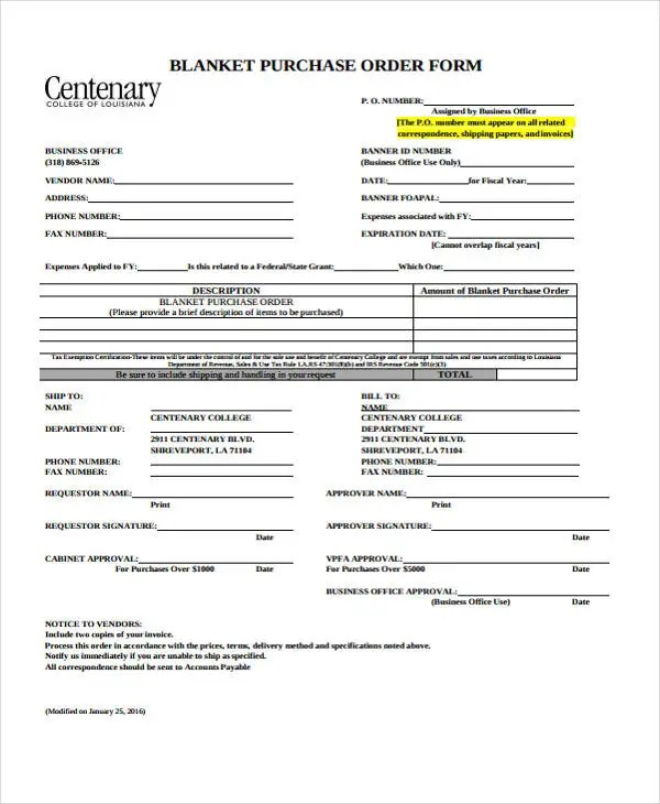 21 Free Order Templates Free  Premium Templates - sample blanket purchase agreement template
