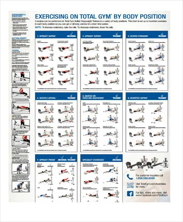Exercise Chart Template Daily Exercise Chart Template Exercise