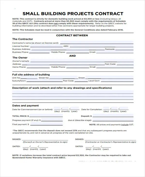 10+ Work Contract Templates - Apple Pages, Google Docs, Word Free