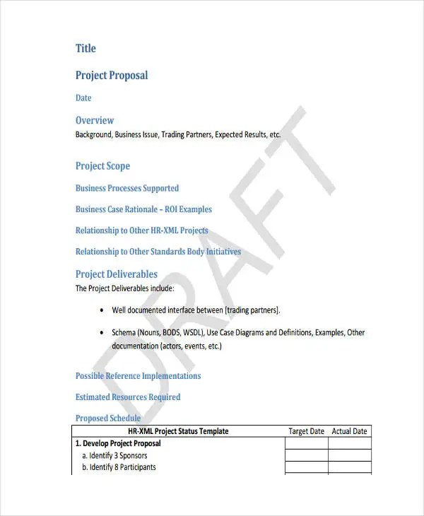 7+ Business Project Proposal Templates - Word, PDF, Pages Free