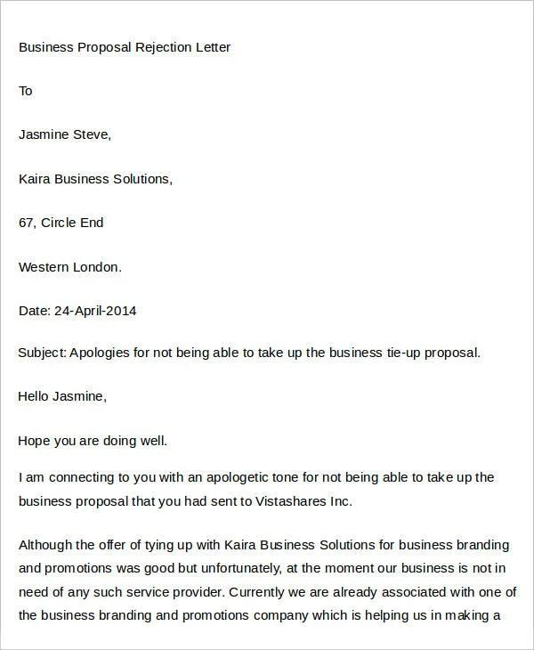 proposal letter for tie up - Elisdlugopisyreklamowe