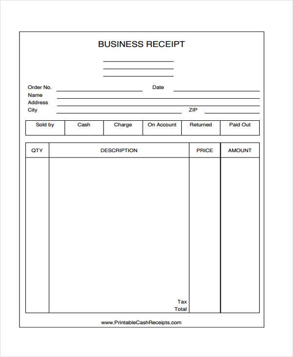 45+ Printable Receipt Templates Free  Premium Templates