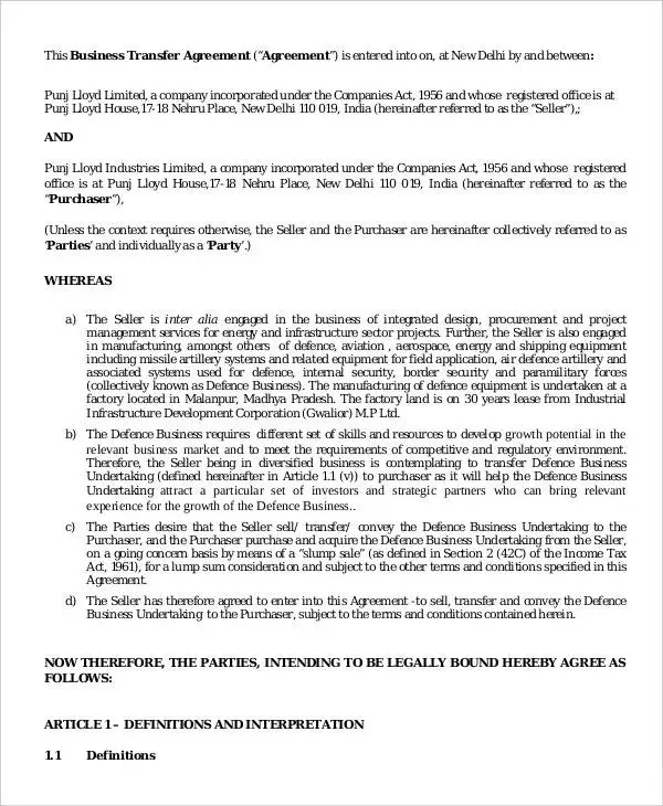 contract transfer agreement template trattorialeondoro - transfer agreement
