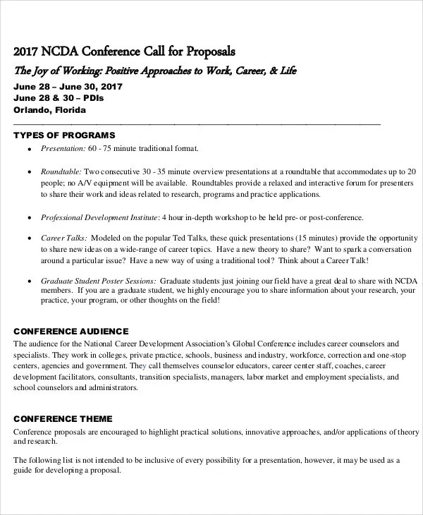 Conference Proposal Templates - 8+ Free Word, PDF Format Download