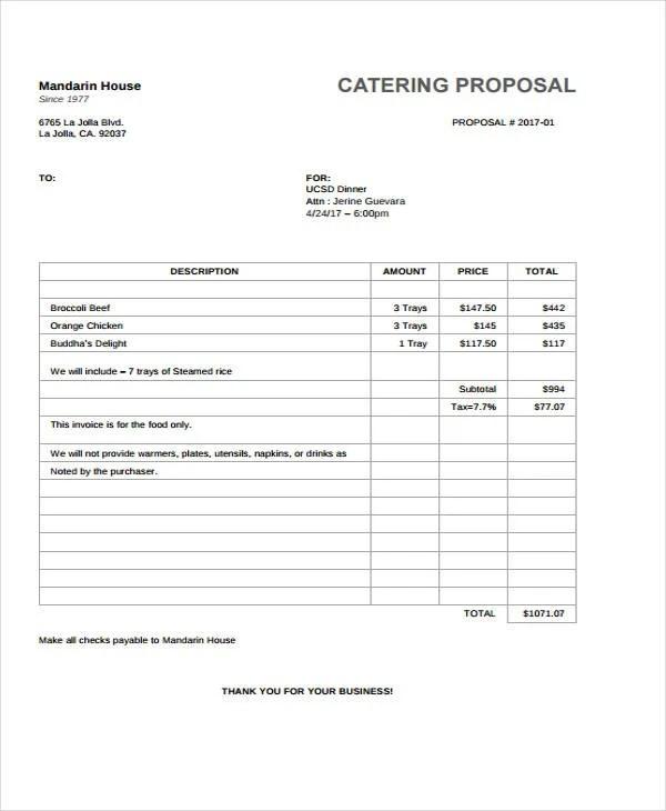 34+ Sample Proposal Templates Free  Premium Templates