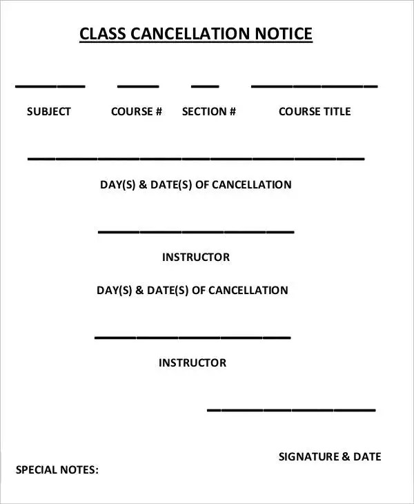11+ Cancellation Notice Templates - Free Sample, Example Format