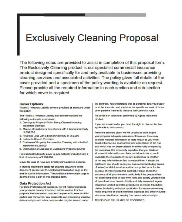 10 Company Proposal Templates - Free Sample, Example Format Download