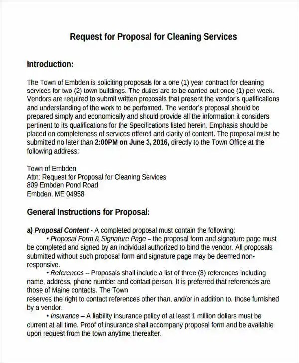 Cleaning Service Proposal Templates - 7+ Free Word, PDF Format - cleaning services proposal template