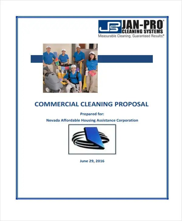 7+ Cleaning Service Proposal Templates -Free Word, PDF Format