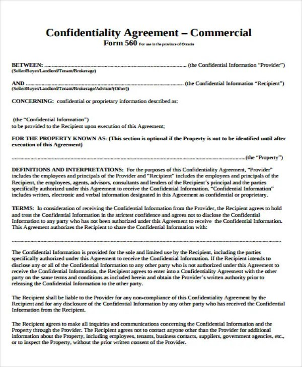 22+ Commercial Agreement Templates - Word, PDF, Pages Free
