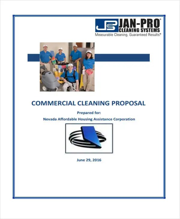 5+ Cleaning Business Proposal Templates - Free Word, PDF Format - commercial proposal template