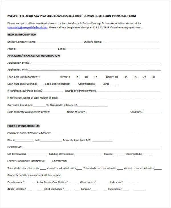 Loan Proposal Templates - 4+ Free PDF Format Download Free