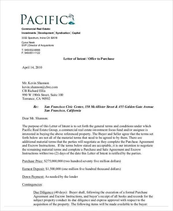 Commercial Real Estate Purchase Agreement Ontario Purchase And - real estate offer letter