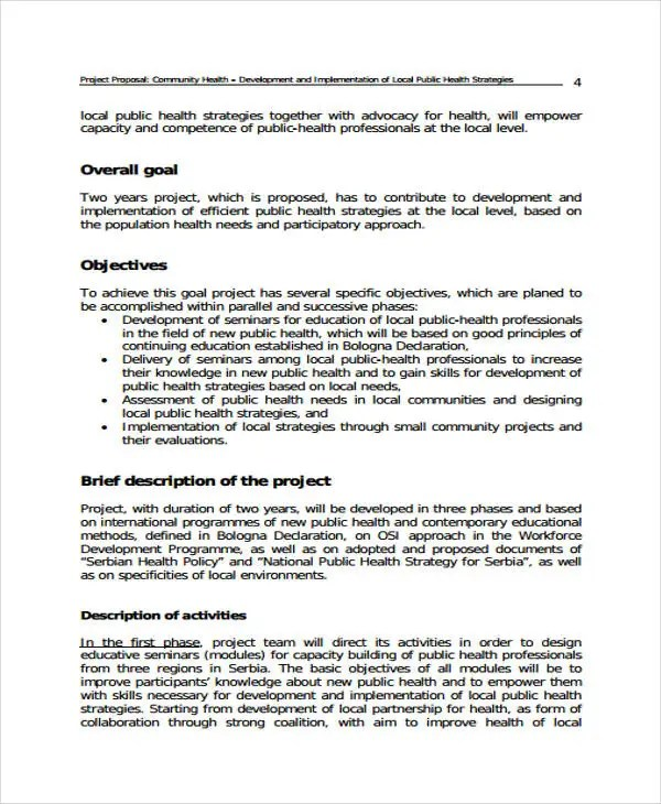 Project Proposal Template Pdf proposal template 140 free word pdf - policy proposal template