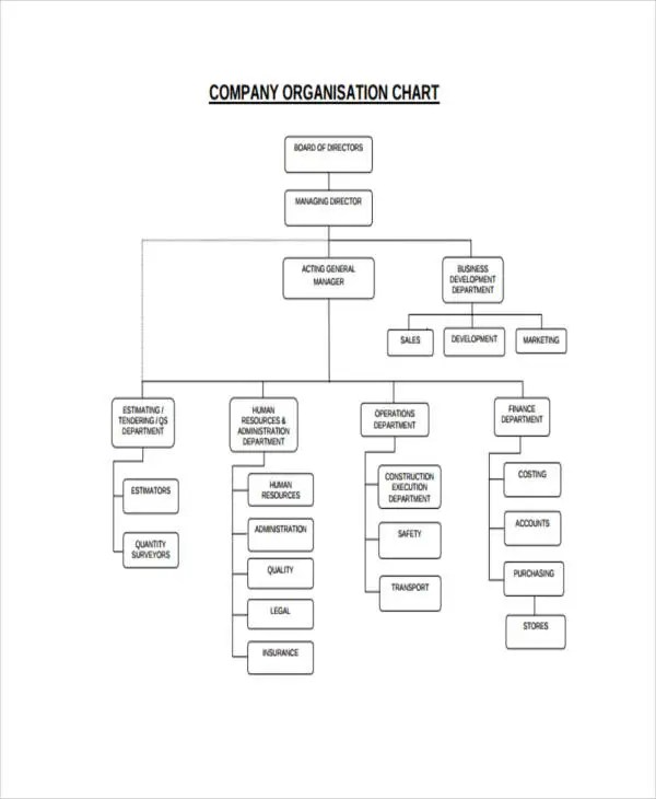Hierarchy Chart Templates - 10+ Free Word, PDF Format Download