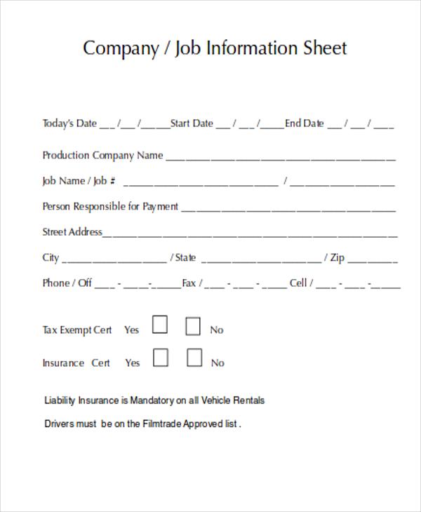 job sheets template – Job Sheet Template Free Download