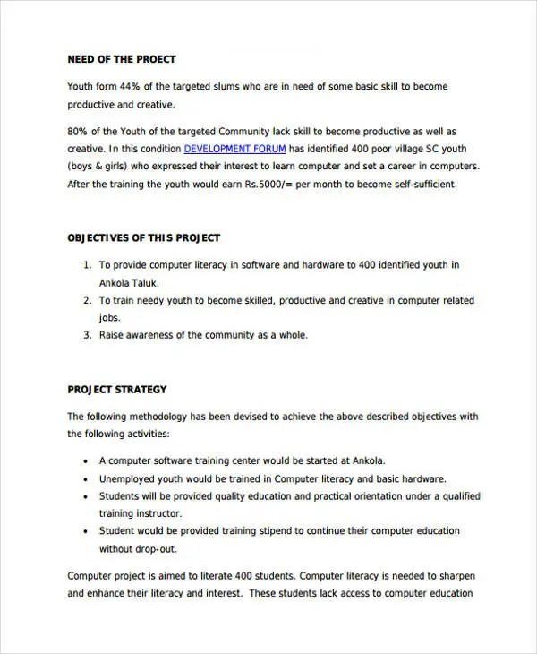 7+ Training Project Proposal Templates - PDF Free \ Premium - project proposals