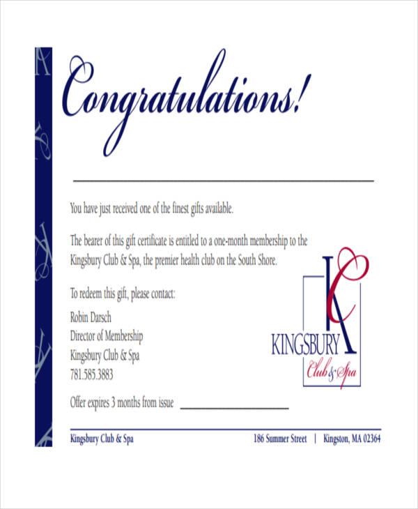 32 Certificate Templates in PDF Free  Premium Templates - congratulations certificate