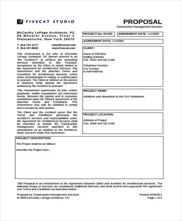 Construction Project Proposal Templates - 6+ Free PDF Format