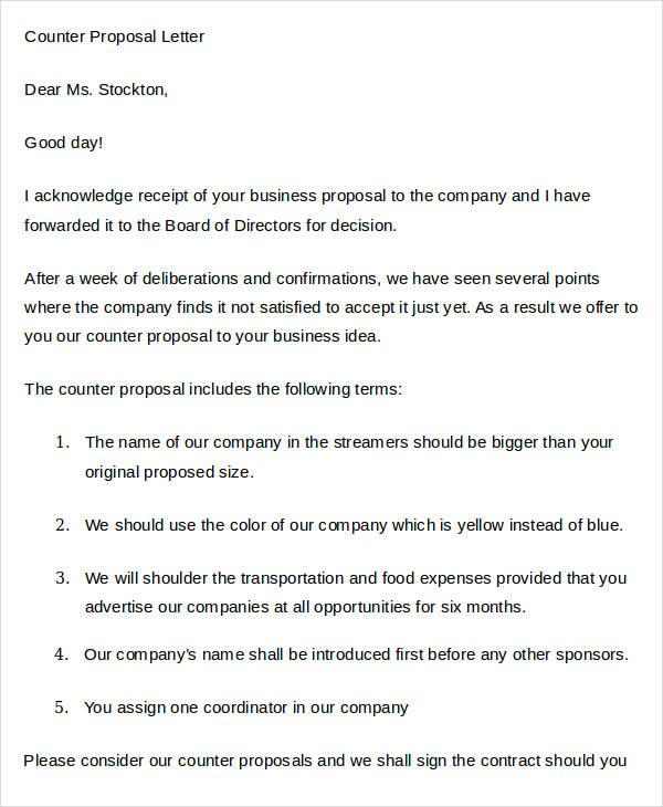 38+ Proposal Letter Templates - Word, PDF Free  Premium Templates