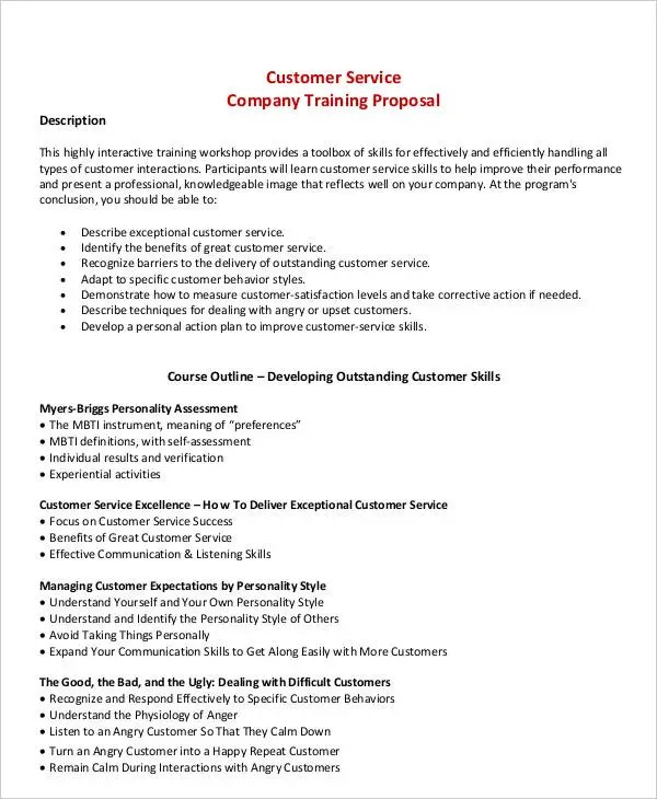 4+ Training Business Proposal Templates Free  Premium Templates