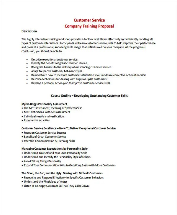 Consulting Service Proposal Templates - 4+ Free Word, PDF Format - services proposal template word