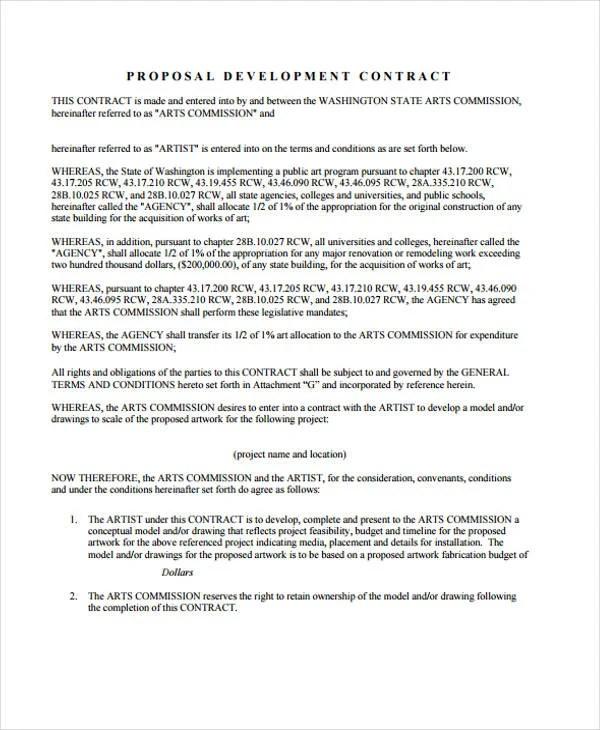 39 Sample Contract Templates Free \ Premium Templates - development contract templates