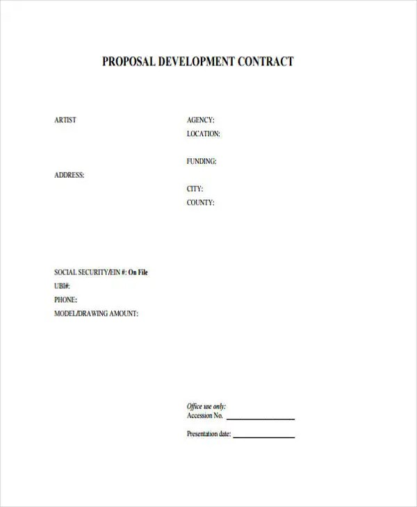 10+ Contract Proposal Templates - Free Word, PDF Format Download