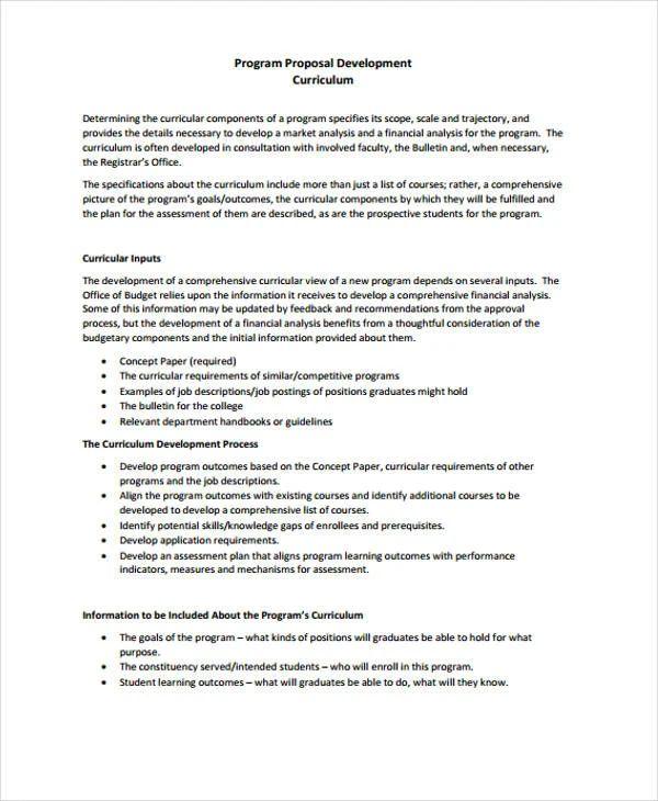 free sample proposals