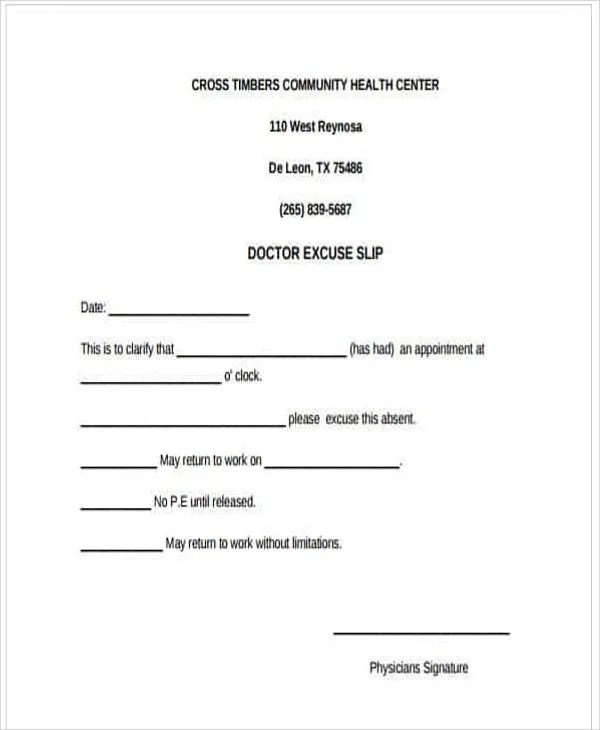 34+ Free Doctors Note Templates Free  Premium Templates