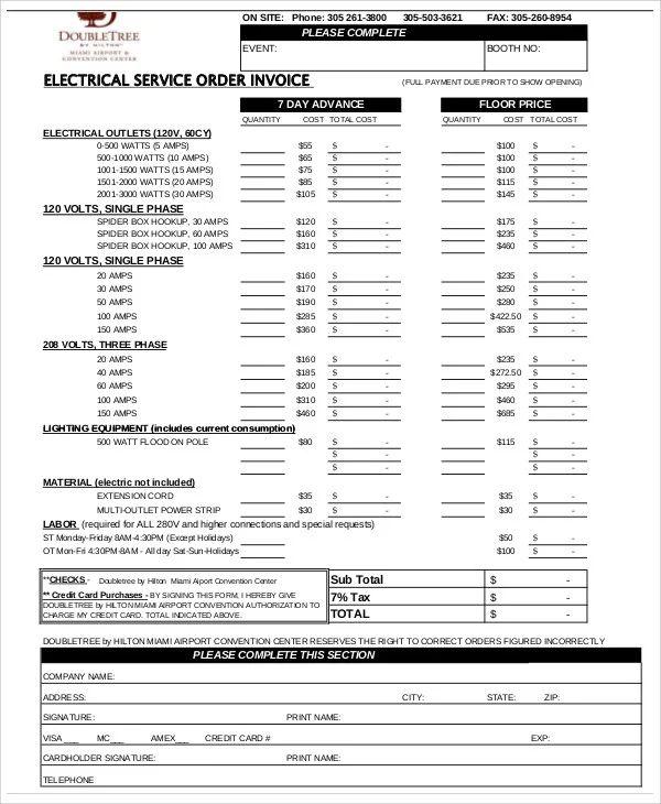 service invoice template free
