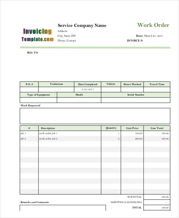 Electrical Invoice Templates - 5+ Free Word, PDF Format Download