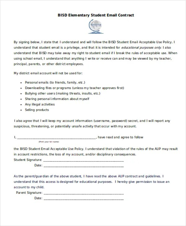 Contract Template 13 Free Pdf Word Documents ~ Student Contract Template - student contract templates