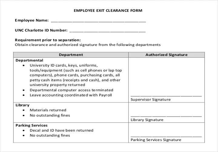 Employee Exit Form Employee Exit Form Employee Exit Form Wowcircle