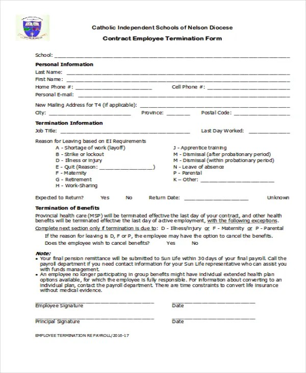 8+ Termination Contract Templates - Free Samples, Examples Format